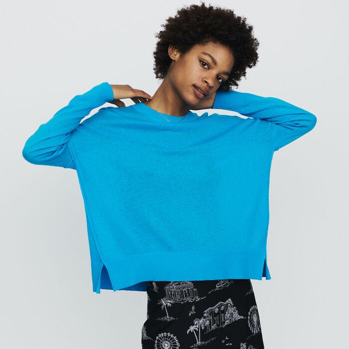 Oversize Pullover aus Kaschmir : Strickwaren farbe Blau