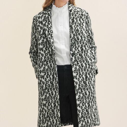 Redingote mit Leopardmotiv : Manteaux farbe Print