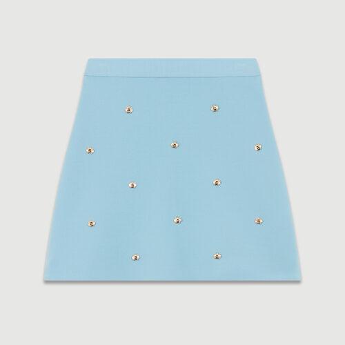 Rock mit Bienenstickerei : Röcke & Shorts farbe Himmelblau