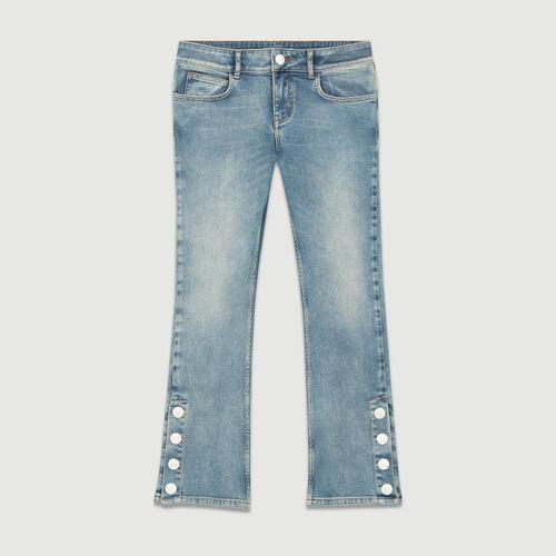 7/8-Jeans ausgestellter Schnitt : Jeans farbe Denim