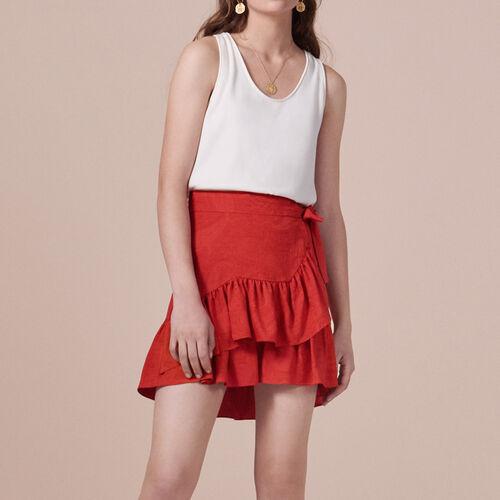 Wickelrock mit Volants : Röcke und Shorts farbe Rot