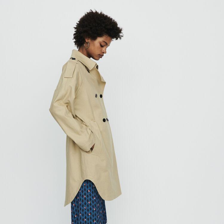 Trenchcoat aus Baumwolle : Mäntel & Jacken farbe Beige
