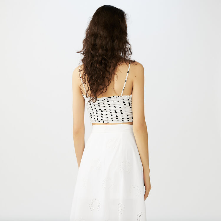Thin strap crop top : Tops farbe Weiss