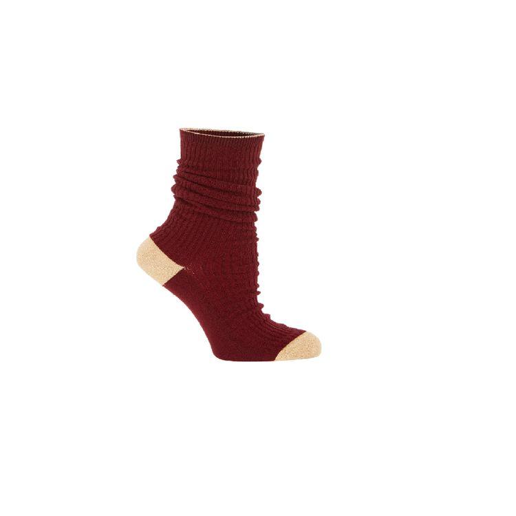 Socken : Gift with purchase farbe Burgunderrot