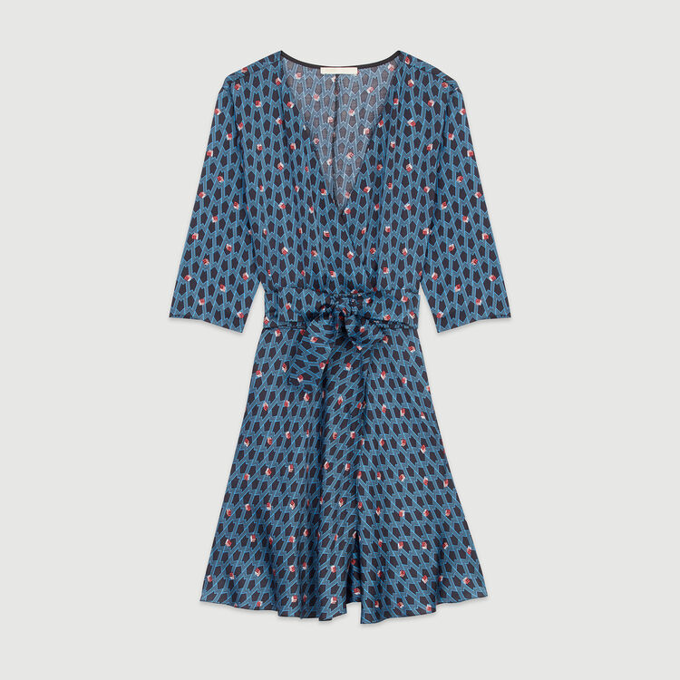 Kleid mit Monogramm Print : Kleider farbe IMPRIME