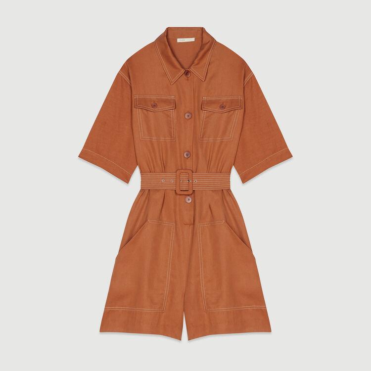 Jumpshort mit Bluse : Röcke & Shorts farbe Terracotta