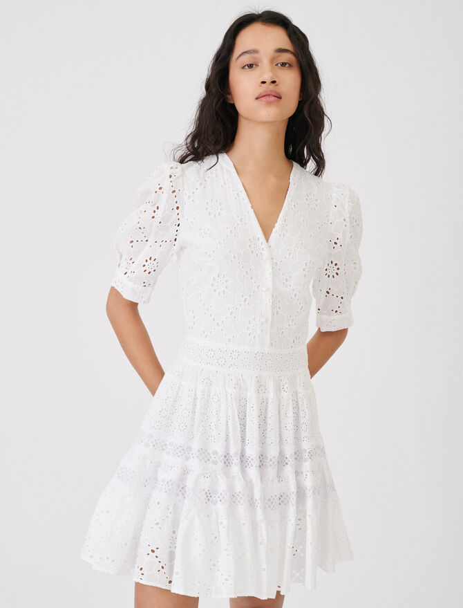 Skaterkleid aus Guipure - Kleider - MAJE