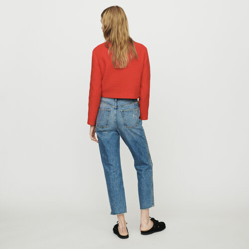 Gerade Jeans mit Reißverschluss : Hosen & Jeans farbe Denim
