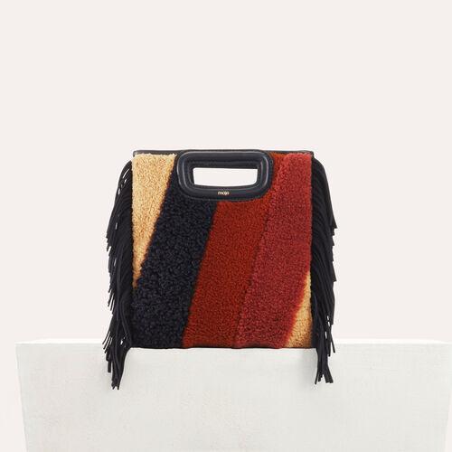 M-Tasche aus Shearling und Leder : M Tasche farbe Mehrfarbigen