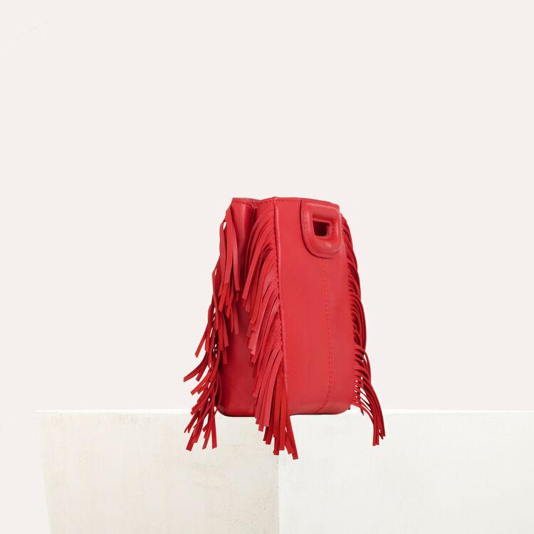 M Mini Tasche aus Veloursleder mit Kette : M Mini farbe Rot
