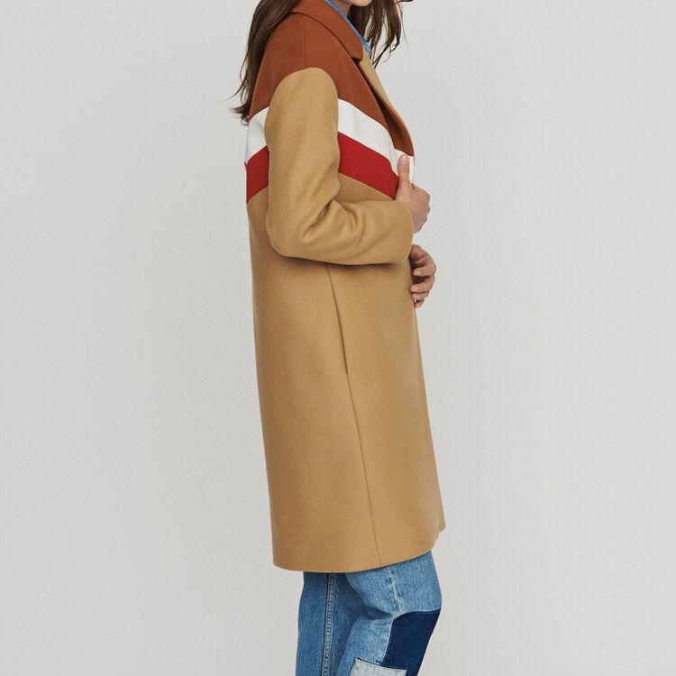 Oversize-Mantel aus Schurwolle : Mäntel farbe Camel