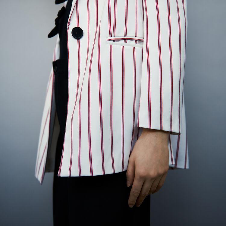 Weite gestreifte Jacke : Blazers farbe Gestreift
