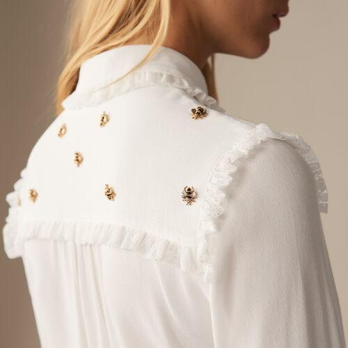 Hemd mit Bienenstickerei - Pre-Kollektion - MAJE
