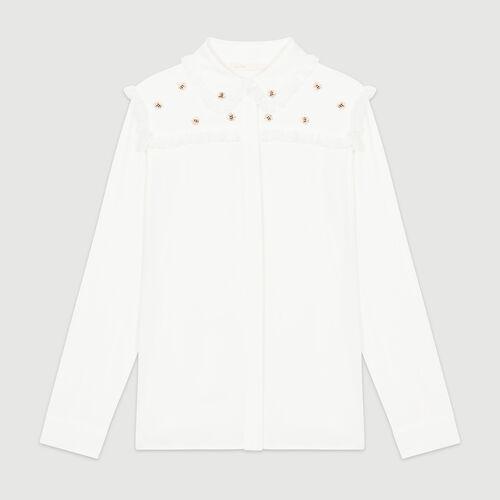 Hemd mit Bienenstickerei : Hemden farbe Weiss