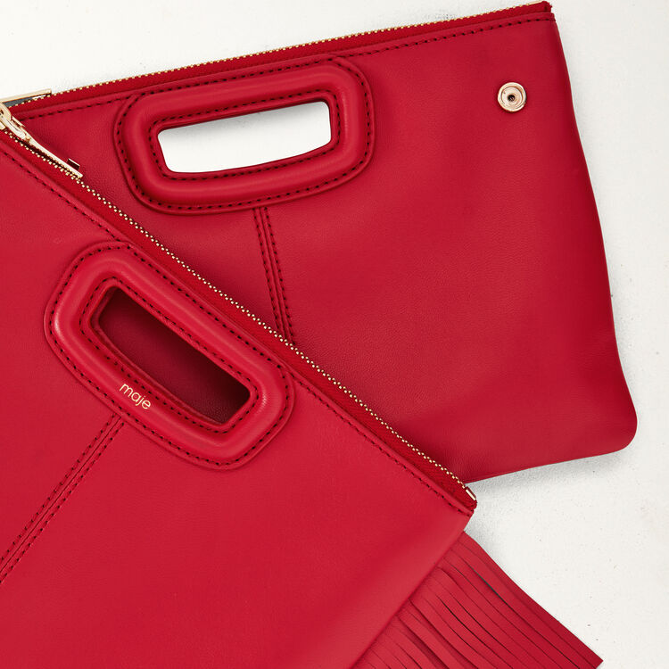 M-Duo-Clutch aus Leder : M Duo farbe Rot