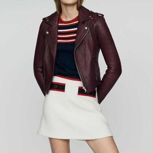 Lederjacke : Jacken farbe Burgunderrot