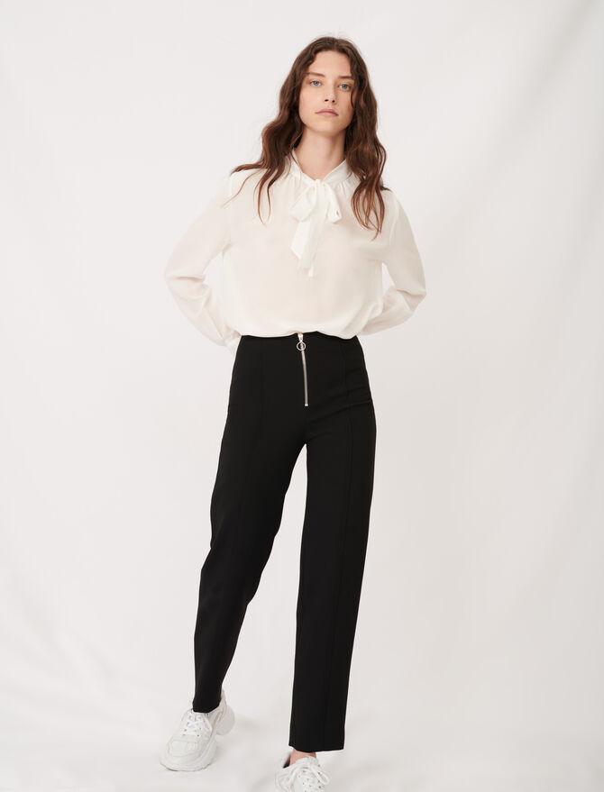 Gerade Hose aus aus recyceltem Polyester - Hosen & Jeans - MAJE