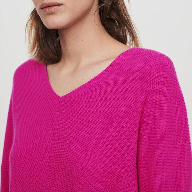 Kaschmir Pullover mit V-Ausschnitt : Pullover & Strickjacken farbe Violett
