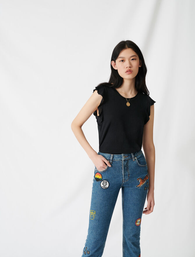 Ärmelloses Volant-Top - T-Shirts - MAJE