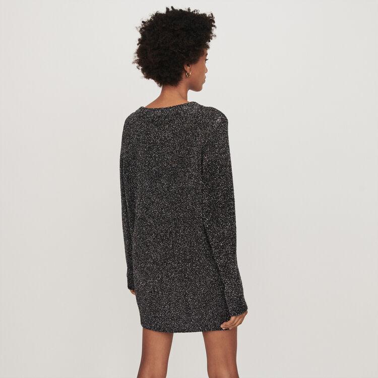 Lurex Strick Kleid : Kleider farbe Silber