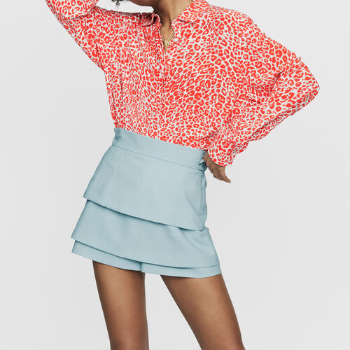 Trompe-l'œil-Short : Röcke & Shorts farbe Himmelblau