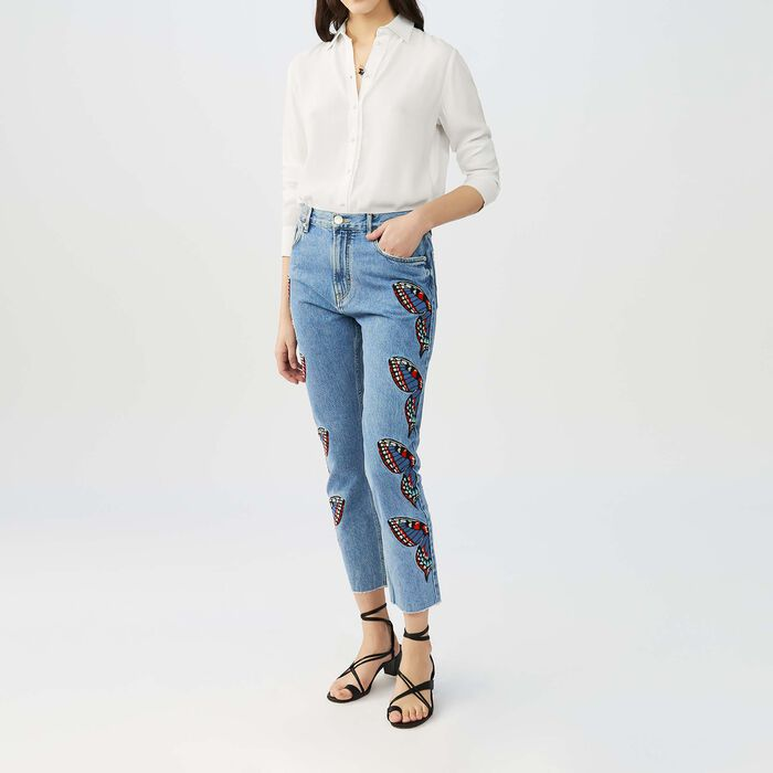 Gerade Jeans : Jeans farbe Denim
