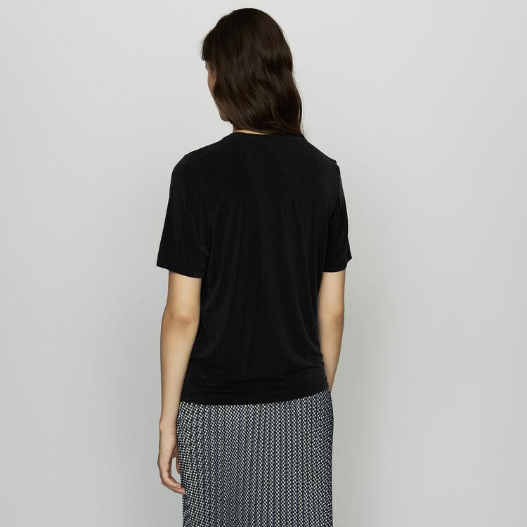 T-Shirt aus Cupro : SoldesUK-All farbe Schwarz