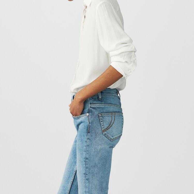 Trapez-Strickrock : Hemden farbe Ecru