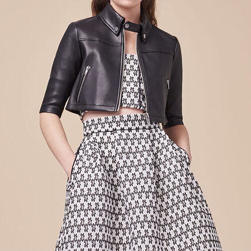 Mini leather jacket : Jacken farbe Schwarz
