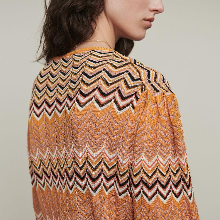 Pullover mit Zick Zack Muster : Pullover & Strickjacken farbe Orange