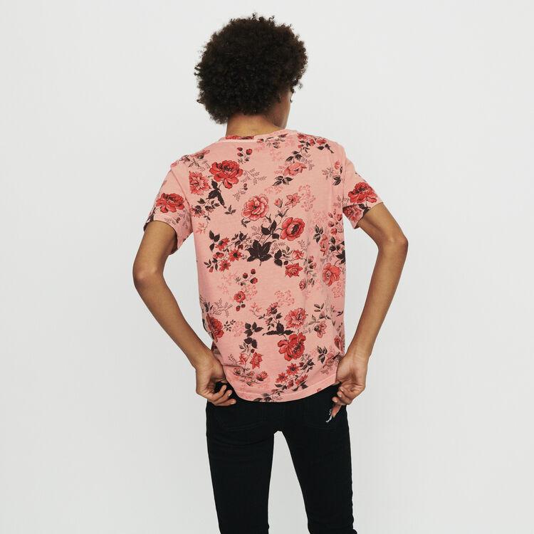 T-Shirt mit Blumendruck : T-Shirts farbe IMPRIME