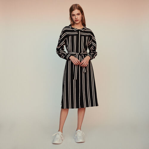Hemdkleid mit Streifenmuster : Kleider farbe Gestreift