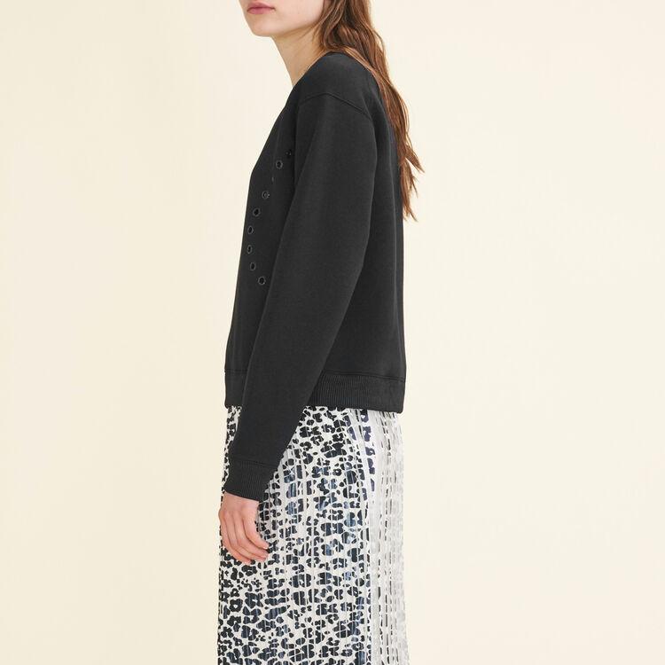Sweatshirt mit Ösen : Pulls & Cardigans farbe Schwarz