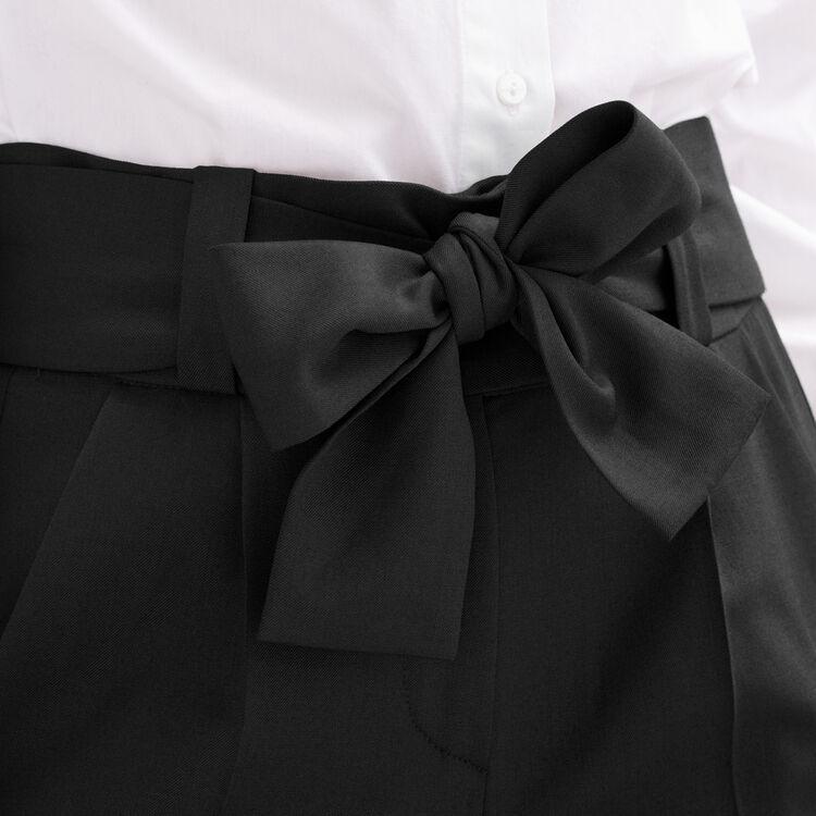 Karottenhose mit Schleife : Tout voir farbe Schwarz