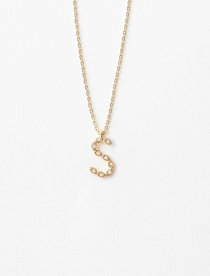 Halskette S mit Strass - Schmuck - MAJE