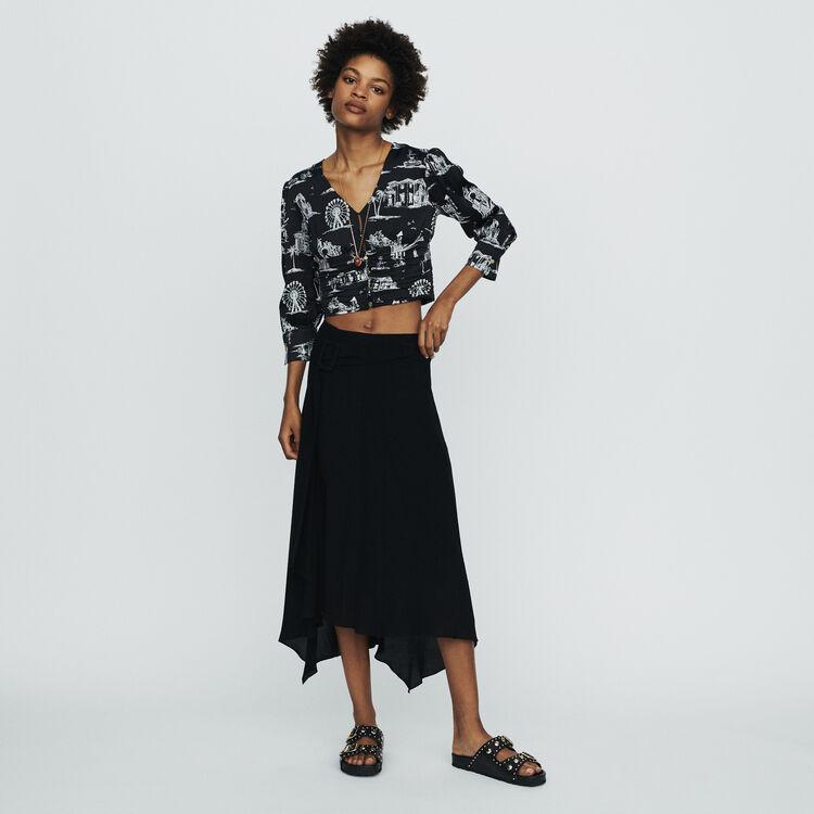 Langer Asymmetrischer Rock : Röcke & Shorts farbe Schwarz