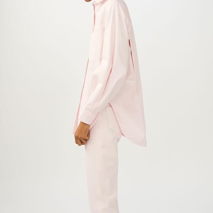 Oversize-Jeanshemd : Hemden farbe Hellrosa