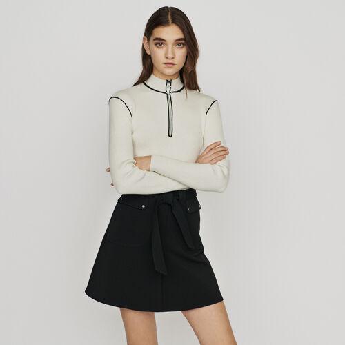 Gonna con cintura ada annodare : Röcke & Shorts farbe Schwarz
