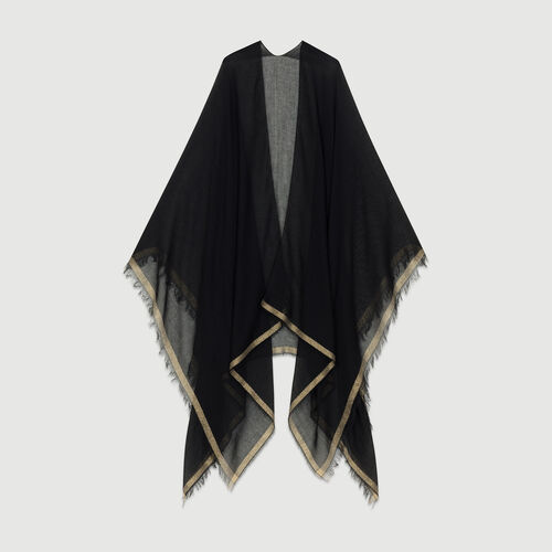 Gestreiftes Oversize-Hemd : Schals & Ponchos farbe Rosa
