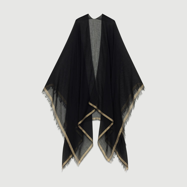 Gestreiftes Oversize-Hemd : Schals & Ponchos farbe Schwarz