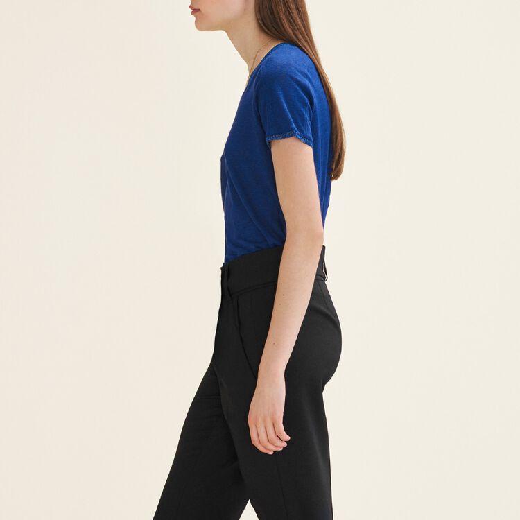 Camiseta con detalles de lúrex : T-shirts farbe Blau
