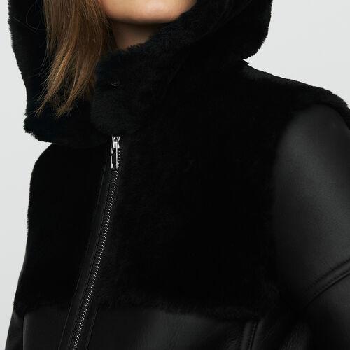 Lange Wollhaut : Bekleidung farbe Schwarz