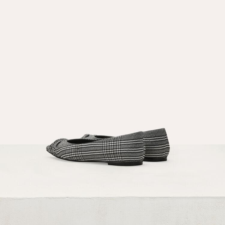 Flache drapierte Pumps : Flache Schuhe farbe CARREAUX