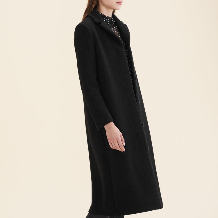 Langer Mantel aus Wollmix : Mäntel farbe Anthrazit