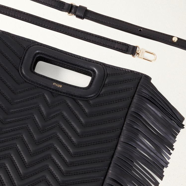 M Tasche aus gestepptem Leder : M Tasche farbe Schwarz