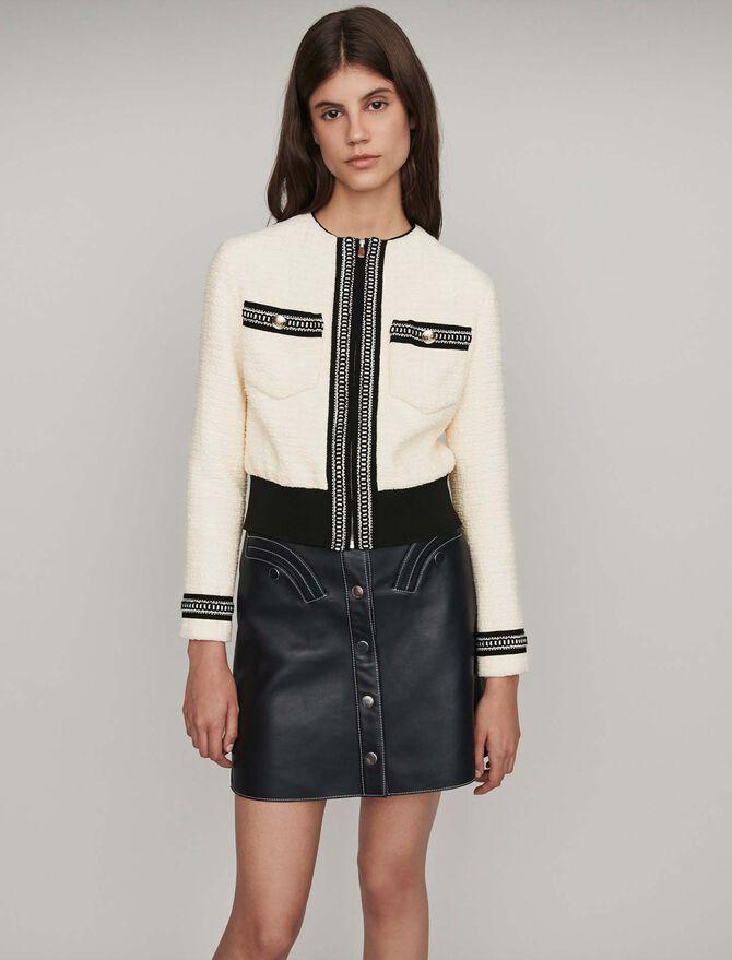 Tweed Jacke mit Reißverschluss -  - MAJE