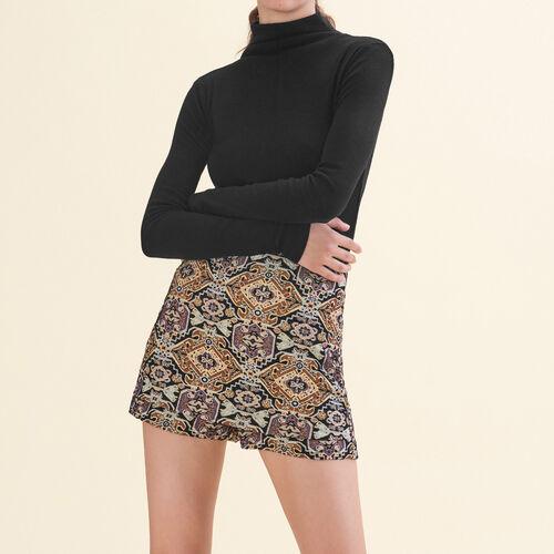 Kurze Jacquard-Shorts : Jupes & Shorts farbe Jacquard