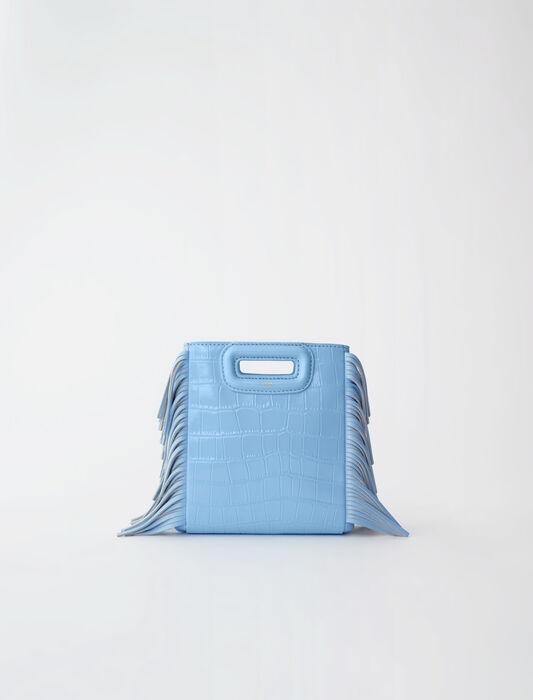 M Mini Tasche aus gekämmten Leder : M Tasche farbe Himmelblau