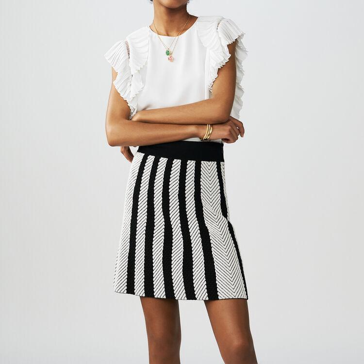 Trapez-Strickrock : Röcke & Shorts farbe Mehrfarbigen