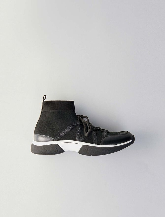 Hohe sneaker aus stretchwolle - Sneakers - MAJE